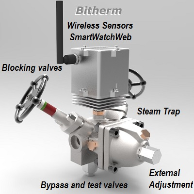 Wireless intelligent steam trap Bitherm SmartWatchWeb
